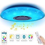 Plafonniers LED Musique 60W, YANFENG Bluetooth Music Lights Télécommande Plafonnier...