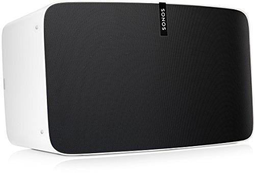 Sonos Play:5 WLAN Speaker (Kraftvoller WLAN Lautsprecher mit bestem, kristallklarem Stereo Sound – AirPlay kompatibler Multiroom Lautsprecher) weiß