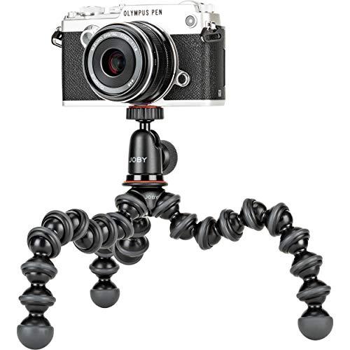 Joby JB01503 Kit GorillaPod 1K Tripé compacto 1K Suporte e Ballhead 1K para câmeras compactas sem espelho ou dispositivos até 1K (1 kg). Preto/Carvão.