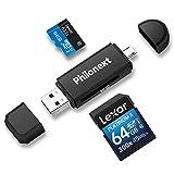Philonext Lecteur de Carte mémoire SD/Micro SD et Adaptateur Micro USB OTG...