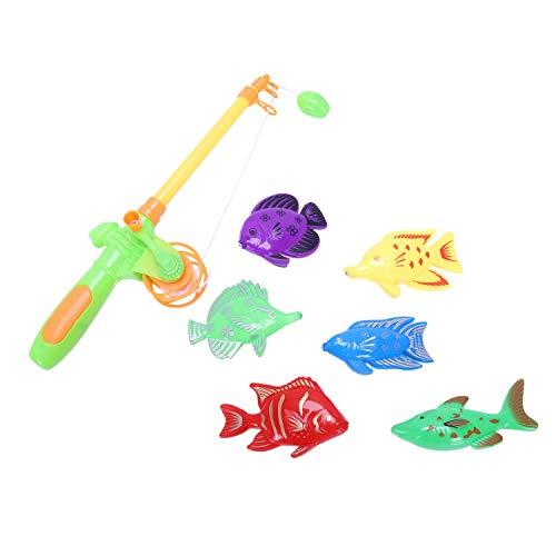 SODIAL(R) Learning & Giocattolo Pesca Magnetica di Formazione e' Dotato di 6 Pesce e Un canne da Pesca, Divertimento & Pesci Sport Regalo Giocattolo per Il Bambino / Capretto