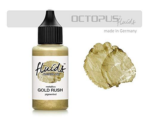 30ml Fluids Alcohol Ink GOLD RUSH, Tinta al alcohol para Fluid Art y Resin Art, oro metálico