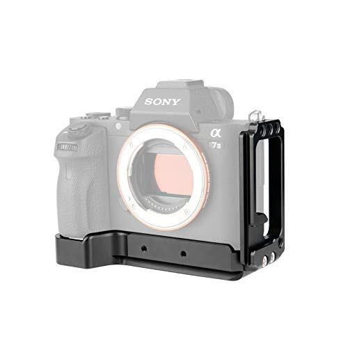 NICEYRIG Sony A7 / A7III / A7M3 / A7RIII / A9専用ケージ L-ブラケットキット L形プレート カメラブラケット L字型フリープレート カメラ多機能板 拡張カメラケージ 横縦撮影用 Sony A7M3 / A7R3 / A9 / A7M2 / A7S2 / A7R2の縦撮影に対応 (単L型) -257