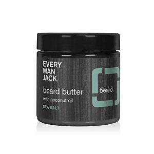 Every Man Jack Beard Butter - Sea Salt | 4-ounce - 1 Jar | Naturally Derived, Parabens-free,...