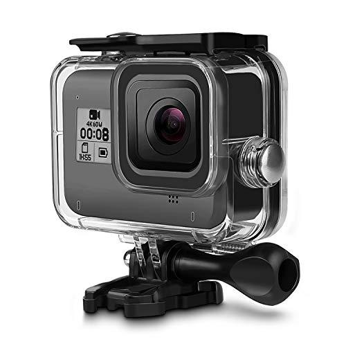 iTrunk Custodia Protettiva Impermeabile per GoPro Hero 8 Accessori, 60M Custodia Protettiva Subacquea con Supporto Tripode e Vite di Fissaggio