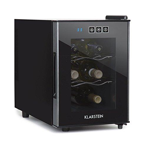 KLARSTEIN Ceres - Cantinetta per Vino, Cantinetta 16 Litri, 6 Bottiglie, Pannello Touch, 2 Ripiani,...