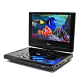 9' Portable Region Free DVD Player by OREI - Multi Zone 1, 2, 3, 4, 5, 6 Travel Video Player - 4 Hour Battery, USB Input, Car Charger - USB Input Divx Playback - Remote Control