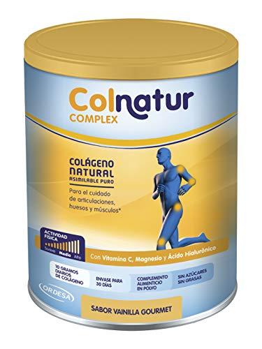 Colnatur Complex - Colágeno Natural para Músculos y Articulaciones, Vitamina C, Magnesio y Ácido Hialurónico, Sabor Vainilla, 335 gr