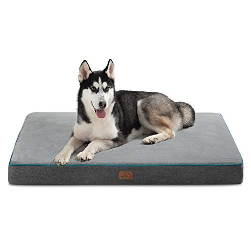Bedsure Large Orthopedic Dog Bed for Large Dogs -...