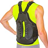TLSO Thoracic Full Back Brace - Treat Kyphosis, Osteoporosis, Compression Fractures, Upper Spine Injuries, and Pre or Post Surgery with This Hard Lumbar Support for Men and Women (Large)