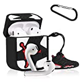 Mulafnxal Compatible with Airpods 1&2 Case,Cute 3D Luxury Funny Cartoon Character Silicone Airpod Cover,Fun Cool Design Skin,Fashion Stylish Cases for Kids Teens Boys Men Air pods(White Flying Man)