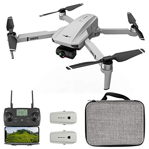 Goolsky KF102 Drone GPS RC con Fotocamera 4K Gimbal a 2 Assi 5G WiFi FPV Posizionamento Flusso Ottico Quadcopter Brushless Motor Point of Interest Waypoint Flight 2 Battery Storage Bag