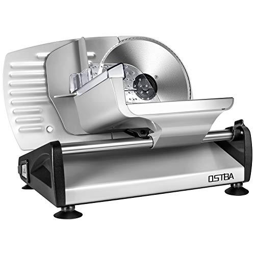 Affettatrice, affettatrice elettrica acciaio inossidabile, metallo, colore argento, spessore max 15...