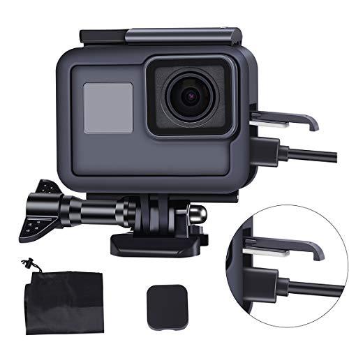 LARRITS Kit di accessori Custodia protettiva per GoPro Hero 7 Hero 6 Hero 5 Black Hero 2018, custodia antigoccia + adattatore di montaggio +vite + copriobiettivo+organizzare la borsa