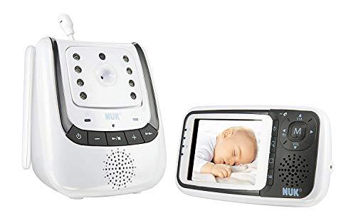 NUK Babyphone mit Kamera Eco Control+ Video, mit Gegensprechfunktion & Temperatursensor, frei von hochfrequenter Strahlung im Eco-Mode