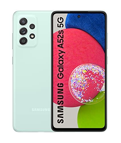 Samsung Smartphone Galaxy℗ A52s 5G con Pantalla Infinity-O FHD+ de 6,5 Pulgadas, 6 GB de RAM y 128 GB de Memoria Interna Ampliable, Batería de 4500 mAh(miliamperio-hora) y Carga Superrápida Verde (Version ES)