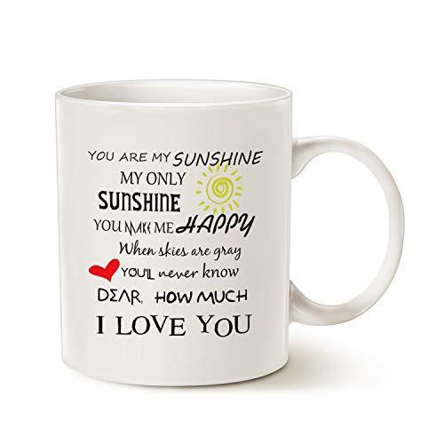 MAUAG Inspirational Love Coffee Mug, You Are My Sunshine...