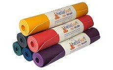 helloSun Premium Naturkautschuk Yoga Matte - Rutschfeste und Leichte Gymnastik, Sport & Fitnessmatte - Öko-Tex zertifizierte & 4 mm Dicke Sportmatte in Verschiedenen Farben - Made in EU (Blau)