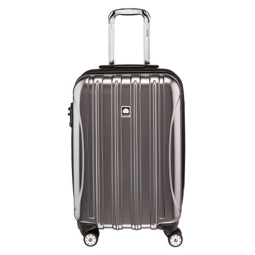 DELSEY Paris Helium Aero Hardside Expandable Luggage with Spinner Wheels, Titanium, Carry-on 21 Inch