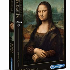 Clementoni-Rompecabezas Puzzle 1000 Piezas Museos Leonardo: Mona Lisa, 12+ (31413)