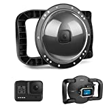D&F Dual Handles Dome Port for GoPro Hero 8 Black, 45m/147ft Underwater Dome Lens Builted-in...