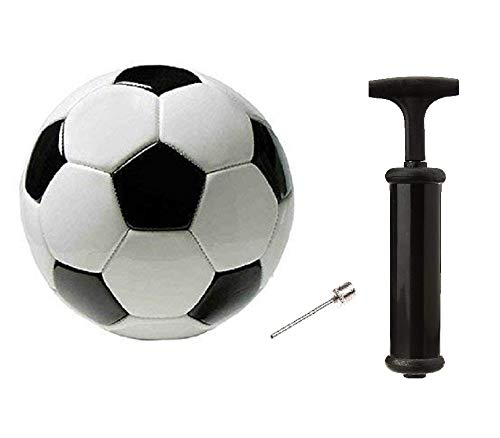 PMG Combo Storm Black-White Football with AIR Pump and Needle