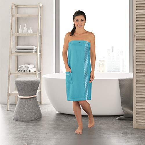 Schiesser Damen Saunakilt Rom Plus Size, Farbe: türkis