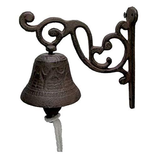 LOVIVER Glocke Türglocke Wandglocke Gartenglocke aus Gusseisen, Shabby Vintage Stil - 2
