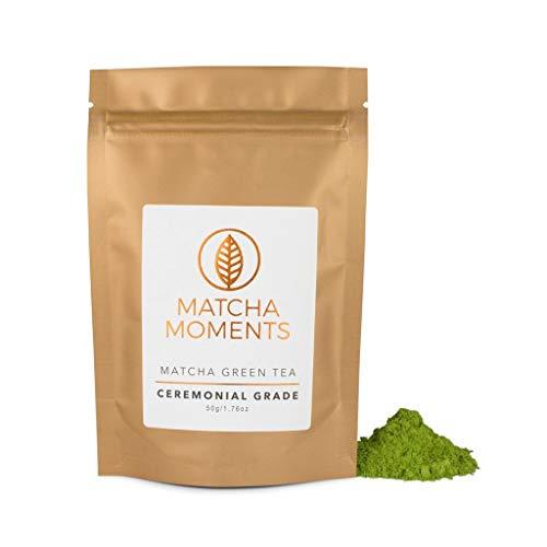 Matcha Pulver Ceremonial Grade | Experten-Tee aus Japan | Unterstützt das Immunsystem | Fair und Nachhaltig | Pur Trinken | Mixgetränke (50 GR)