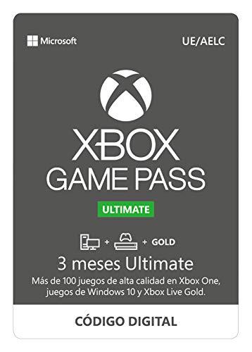Suscripción Xbox Game Pass Ultimate - 3 Meses   Xbox/Win 10 PC - Código de descarga