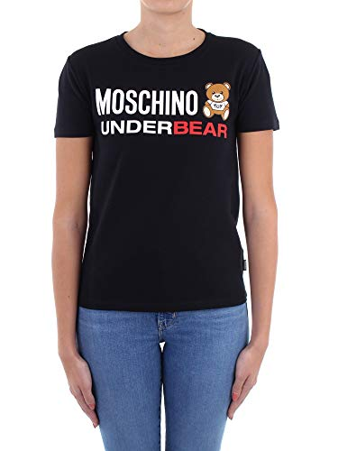 Moschino T Shirt Underwear A1904 Logo underbear Nero Uomo E21MO12