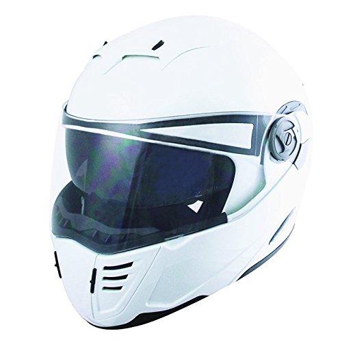 TNK工業 ファントム TOP PT-2 システムヘルメット パールホワイト Lサイズ (58-60㎝未満) 51230