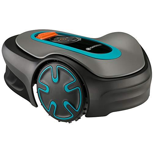 GARDENA SILENO Minimo 500 | Tondeuse Robot jusqu'à 500m² - Tond sous la pluie et passages étroits, Bluetooth App, Très silencieux, Automatique - Robot de Tonte Pelouse (15202 20)