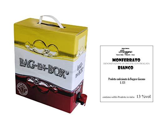Boggero Bogge Wine - Monferrato Bianco Muller Thurgau bag in box 5 L