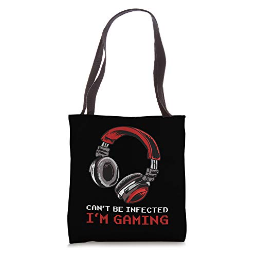 Can't Be Infected I'm Gaming - Video Games Online Gamer Tote Bag