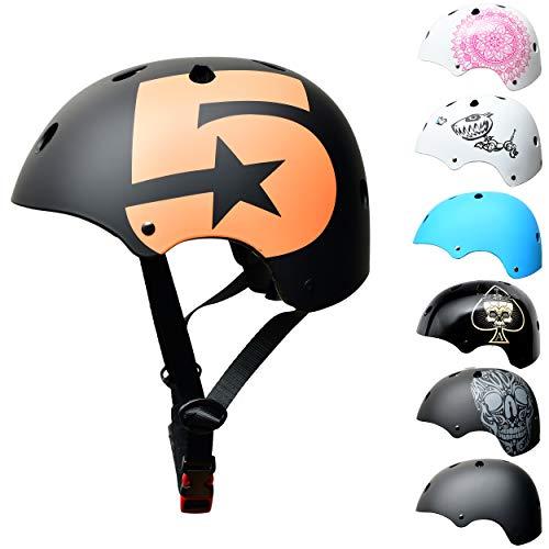 SkullCap® Casco BMX Bici y Casco Skate - Hombres Mujeres Niños y...