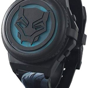 Black Panther Kid's Light Up Digital Watch with Opening Face Cover