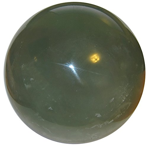 Satin Crystals Fluorite Green Ball 4.5' Collectible Clear...