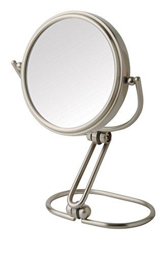 Jerdon MC315N 3-Inch Folding Travel Mirror with 15x Magnification, Nickel Finish