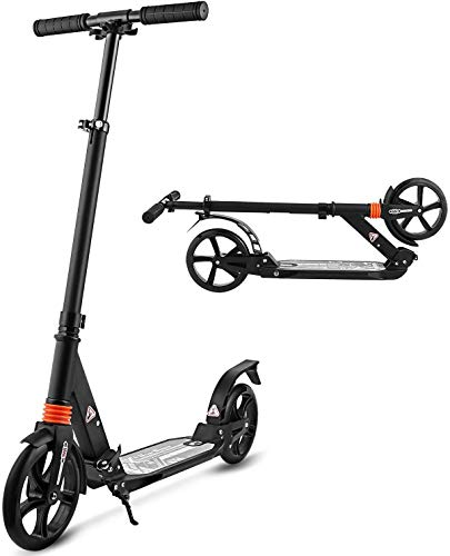 Hikole Scooters for Adults Teens, Kick Scooter with Adjustable Height Dual Suspension...
