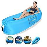 Hamac Gonflable,Sofa d'air imperméable à l'eau avec le paquet portatif,...
