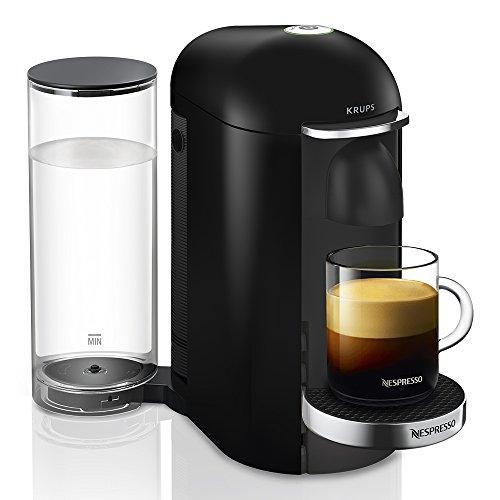 Krups Vertuo Plus noir Machine expresso, Nespresso, Machine à café, Cafetière expresso, 5 tailles de tasses, 1,8L, Capsule de café, Espresso YY2779FD