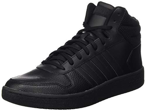 adidas Herren Hoops 2.0 Mid Basketballschuhe, Schwarz (Core Black/Core Black/Core Black Core Black/Core Black/Core Black), 44 EU (9.5 UK)