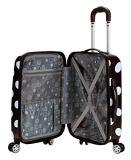 Rockland Laguna Beach Hardside Spinner Wheel Luggage, Black Dot, Carry-On 22-Inch