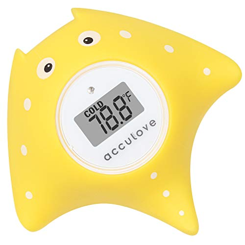 Acculove-Baby-Bath-Thermometer-Yellow-Fish