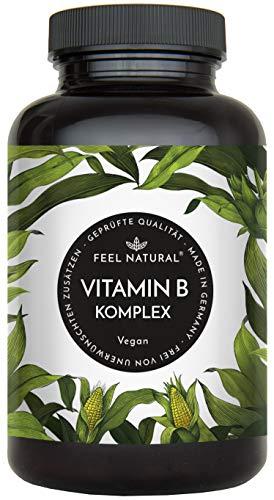Feel Natural | Vitamine B complex | Capsules | Hoog gedoseerd | 180 stuks | Veganistisch | 6 maanden voorraad