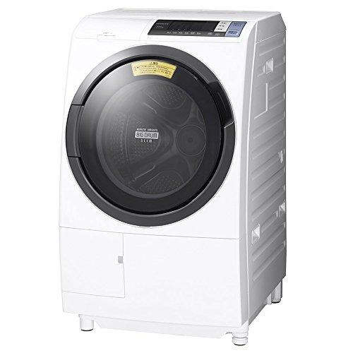 日立 ドラム式洗濯乾燥機 ビッグドラム 左開き 10kg ホワイト BD-SG100BL W