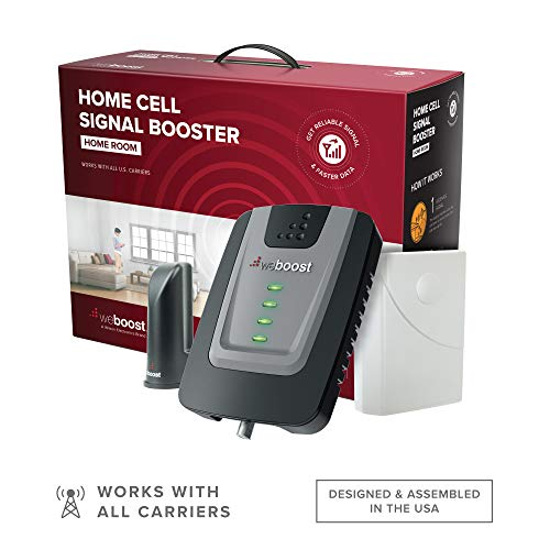 weBoost Home Room (472120) Cell Phone Signal Booster Kit   Up to 1,500 sq ft   All U.S. Carriers - Verizon, AT&T, T-Mobile, Sprint & More   FCC Approved,Black, Grey, Red