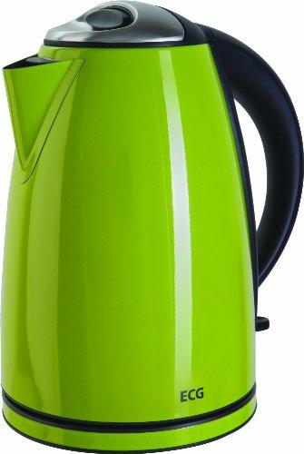 ECG RK 1865 ST, Edelstahl Wasserkocher (1,8 Liter, 2000 W), grün