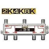 DXアンテナ 分配器 【2K 4K 8K 対応】 6分配 全端子間通電 金メッキプラグ F型端子 ダイカスト製高シールド構造 6DMLS